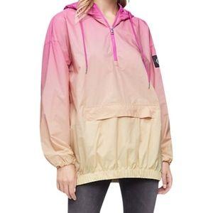 NWT Calvin Klein Jeans Ombre 1/4 Zip Rain Jacket